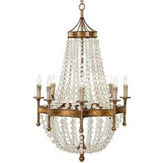 The curvaceous Scalloped Frosted Crystal Bead Chandelier delights the eye with refined sophistication. With its chic silhouette, this stunning lighting accessory would be an ideal addition to an entryway, living room,  dining room or master en suite.