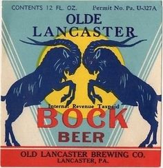 Olde Lancaster Bock Beer12oz Old Lancaster Brewing Co PENN