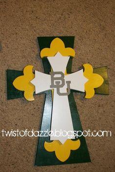 Large Baylor University Cross. $45.00, via Etsy.