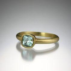 Pale Blue Green Tourmaline Ring by Maria Beaulieu