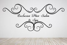 Wall Room Decor Art Vinyl Decal Sticker Mural Exclusive Hair Salon Spa Beauty Massage Nails Make Up Girls Sign Logo Emblem AS358