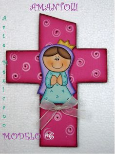 cruces para primera comunion en madera para recuerdos