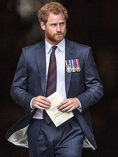 Is it the beard? The blue suit? The medals? The regal stride? Whatever it was, everyone's favorite royal redhead, Prince Harry, cut a dashing figure Thursday at an event honoring veterans at St. Paul's cathedral.