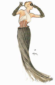 Gruau for Madame Gres in L'Officiel, 1948