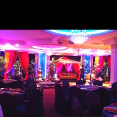 Arabian themed wedding reception decor