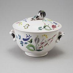 Terrin i fajans. Stig Lindberg, Ceramic Design, Bukowski, Porcelain Ceramics, Retro, Pottery, Hem, Studio, Sweden