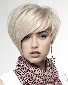 Asymmetrical Short Hair Cut