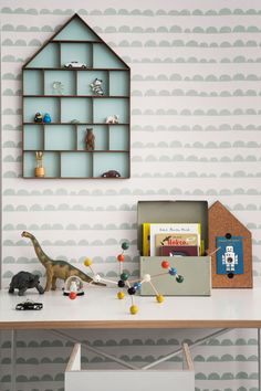 The wallpaper Half Moon Wallpaper - 158 from Ferm Living is wallpaper with the dimensions m x m. The wallpaper Half Moon Wallpaper - 158 belongs to th Ferm Living Wallpaper, Mint Wallpaper, Wallpaper Paste, Wallpaper For Boys Room, Neutral Wallpaper, Baby Decor, Kids Decor, Kids Bedroom, Bedroom Decor