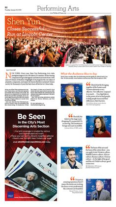 Shen Yun Closes Successful Run at Lincoln Center|Epoch Times #newspaper #editorialdesign