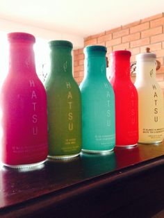 linea de te hatsu Mason Jar Lamp, Table Lamp, Drinks, Eating Clean, Bottles, Drinking, Table Lamps, Beverages, Drink