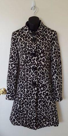 NEW Women's Black Ivory Dressy Leopard Coat, Size XXS, Le Chateau #LeChateau #Coat #ebay #alohamilena #leopard #cute #fashion #women #womenfashion #sale #clothes #sexy #dressy
