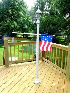It's My Life: My Weekend Project: A PVC Camping Lamp Post and Flag Holder