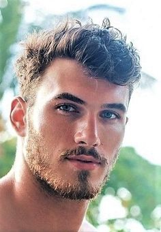 Michael Yerger - Care - Skin care , beauty ideas and skin care tips Blonde Curly Hair, Curly Hair Care, Curly Hair Men, Beard Styles For Men, Hair And Beard Styles, Curly Hair Styles, Beautiful Men Faces, Gorgeous Men, Et Tattoo