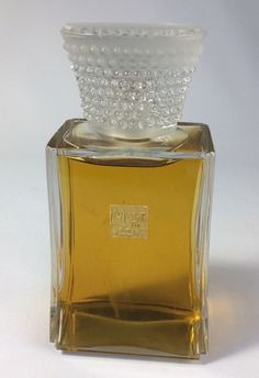 """Vintage Bottle By Lalique Muse De Coty Perfume 6"""" With Content"""
