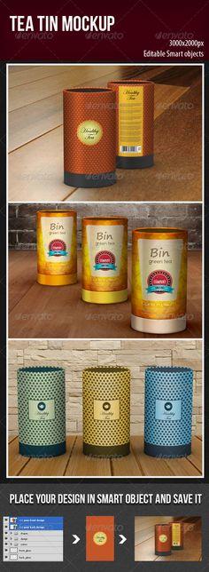 Tea Tin Mockup - Food and Drink Packaging