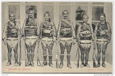 Postcard- Smyrna -Turkey - Group Zeibeks - edict ; Zachariou & Koury Smyrna -