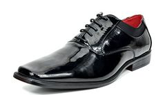 Bruno Marc Men's Faux Patent Leather Tuxedo Dress Shoes Classic Lace-up Formal Oxford Oxfords, Loafer Shoes, Loafers, Lace Dress, Dress Shoes, Tuxedo Dress, Men Formal, Mens Suits, Black Shoes