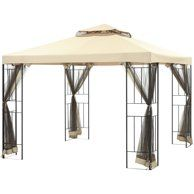 Gazebo For Patio Outdoor Canopy Party Tent Sunshade Steel Frame Furniture for sale online Outdoor Gazebos, Patio Gazebo, Patio Canopy, Canopy Outdoor, Outdoor Structures, Tent, Outdoor Curtains, Backyard Patio, Pergola