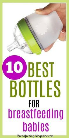 The best bottles for breastfed babies don't cause nipple confusion, closely mimic breastfeeding and is something that your baby don't refuse to use! #breastfeeding #momtips #babybottles