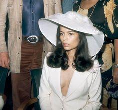 Bianca Jagger at her wedding (1971)