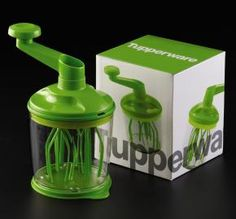 Why didn't we think of this? Behold the Whip 'N Prep from Laura Murphy's Tupperware site!