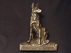 Vintage Brass Door Knocker Alsatian Dog Alsatian Door Knocker
