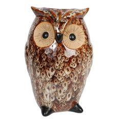 Hosley Ceramic Owl Vase, Brown - Walmart.com