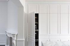 Contemporary Kitchen Hidden Behind Elegant Wall Panels | iDesignArch | Interior Design, Architecture & Interior Decorating eMagazine