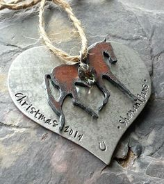 Personalized Horse Keepsake OrnamentCustom by EquineExpressionsbyD