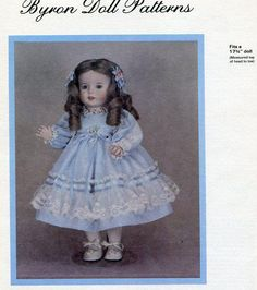 Byron Doll Pattern 1980's BY-215 Twirp Marilyn 17 3/4  Old Store Stock Sewing Pattern by LanetzLivingPatterns on Etsy