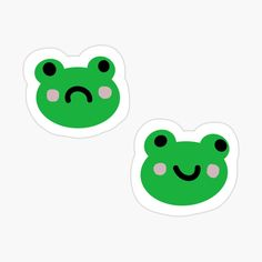 Preppy Stickers, Kawaii Stickers, Anime Stickers, Cool Stickers, Printable Stickers, Art Room Posters, Indie Drawings, Frog Art, Cute Frogs