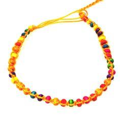 Orange beaded anklet -£1 #prettytwisted #jewellery #anklet http://prettytwistedonline.co.uk/product/orange-beaded-anklet/