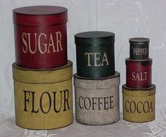 Round Kitchen Canisters: The Black Sheep Primitives