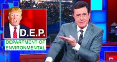 Stephen Colbert mocks Trump's plan to ax the non-existent 'Department of Environmental'