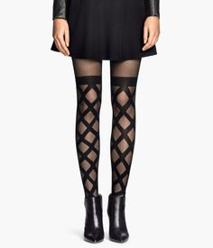 cute diamond patterned tights