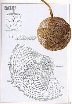 Todo para Crear ... : crochet para navidad revista de la web Christmas Crochet Patterns, Crochet Ornaments, Holiday Crochet, Crochet Doily Patterns, Crochet Diagram, Crochet Home, Filet Crochet, Crochet Motif, Crochet Crafts