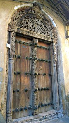 The Doors of Zanzibar in Africa