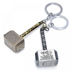 Thor Hammer Keychain The Avengers Figure Metal Key chain Keyring Key-ring Gifts for Men Creative Trinket Souvenir Thor Hammer Keychain, Car Key Holder, Super Hero Outfits, My Superhero, Thors Hammer, Marvel Avengers, Marvel Comics, Cartoon Styles, Jewelry Sets