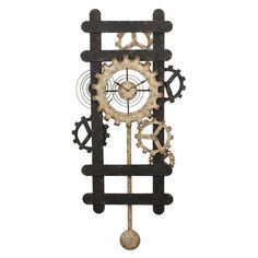 Iron wall clock with a gear motif for an industrial flair.
