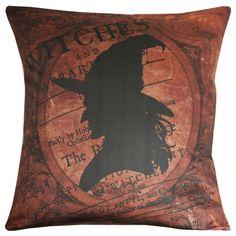 Halloween Witch Silhouette Burlap Cotton by ElliottHeathDesigns, $43.00