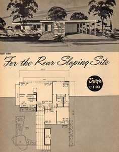 """Design C 1103 """"For the Rear Sloping Site"""""""
