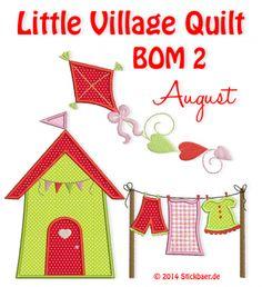 Little Village Quilt BOM 2 Machine Embroidery Applique Designs