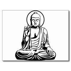 Junger Buddha No.1 (Schwarz-weiß) Postkarte | Zazzle