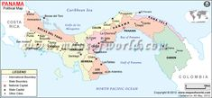 Political Map of Panama Malayan Emergency, Timor Oriental, Countries In Central America, Bible Mapping, Learn Another Language, Primary Teaching, Lds Primary, Doctrine And Covenants, Country Maps