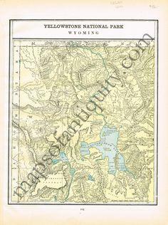 Montana Map Wyoming Yellowstone National Park Map Western - Us map yellowstone national park