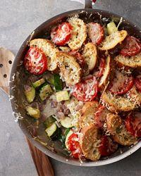 Zucchini-Tomato Strata Recipe
