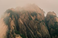 Huangshan Mountain top in the mist 1
