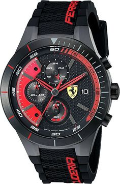 9ca8cc015d7 Amazon.com  Ferrari Men s 0830260 REDREV EVO Analog Display Quartz Black  Watch  Ferrari
