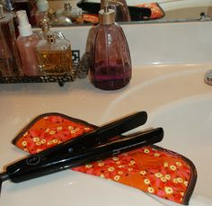 free instructions for a curling iron cover at the FreeSpirit fabric blog: http://freespiritfabric.blogspot.com/2012/11/12-weeks-of-christmas-week-6.html