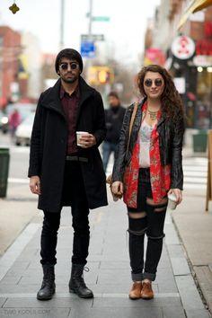 Couple Street Style 2012: Circle Sunglasses